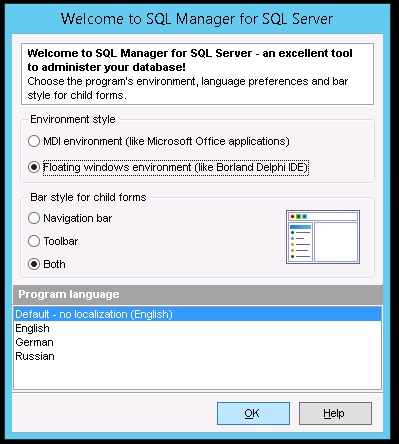 Sql Manager lets you install like the Delphi UI!