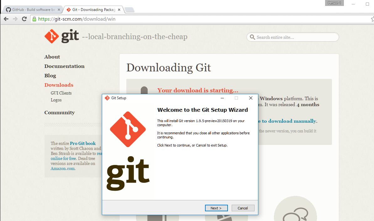 download and install git