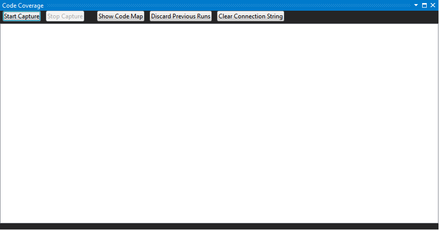 the ssdt code coverage window