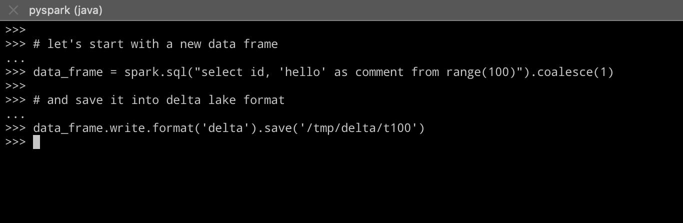 create data frame