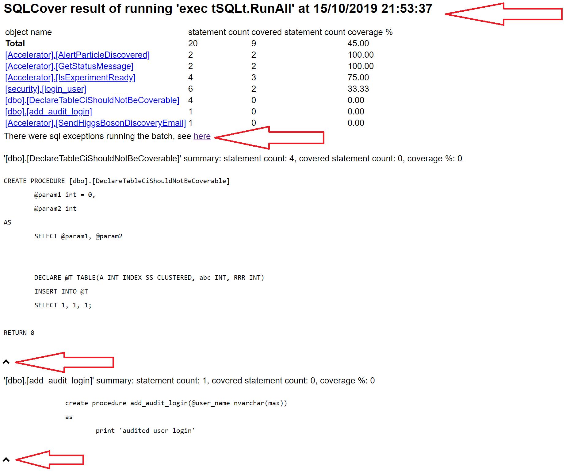 SQLCover v2 HTML Report